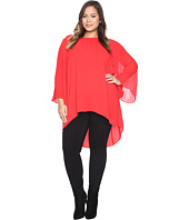 Vince Camuto Specialty Size - Plus Size Chiffon Pleated Sleeve Blouse