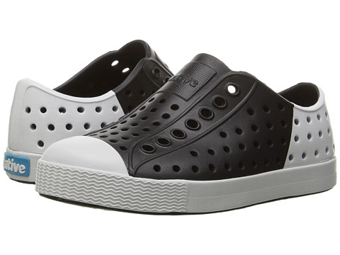 Native Kids Shoes Jefferson Block (Toddler/Little Kid) - Jiffy Black/Shell White/Shell Block
