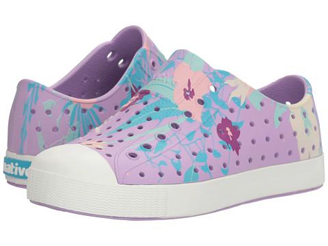Native Kids Shoes Jefferson Quartz Print (Little Kid) - Lavender Purple/Shell White/Bouquet