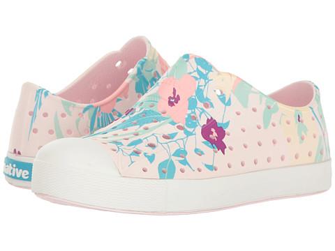 Native Kids Shoes Jefferson Quartz Print (Little Kid) - Milk Pink/Shell White/Bouquet