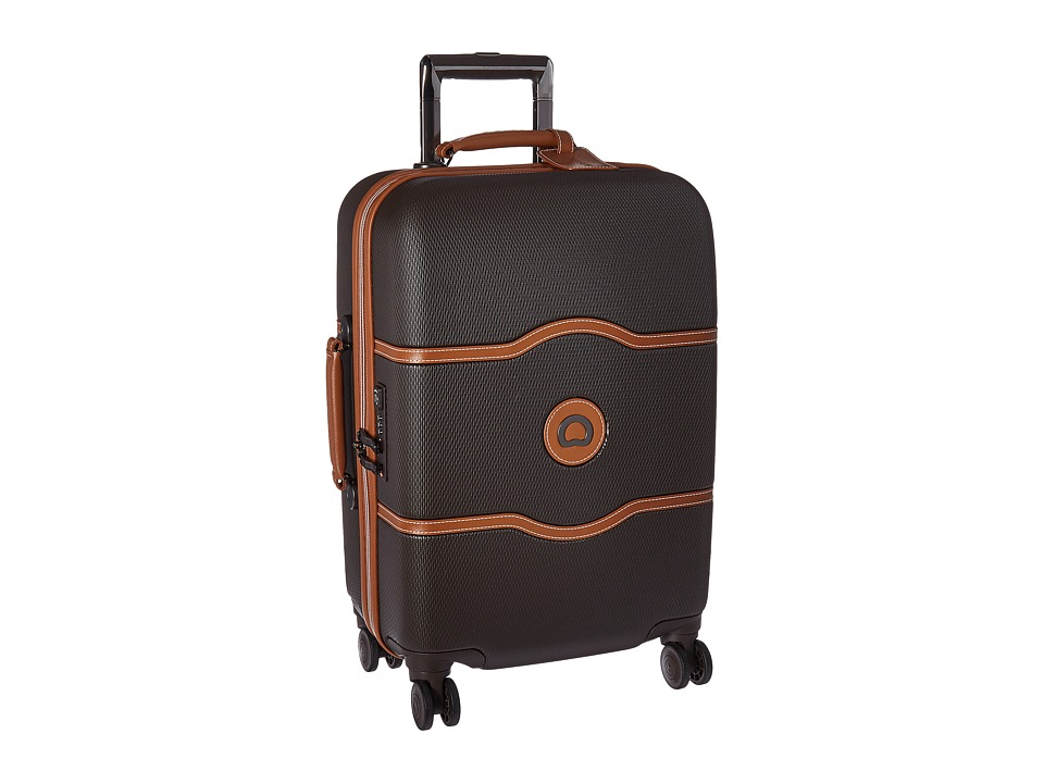 Delsey Chatelet Hard 21 Carry-On Spinner Trolley (Chocolate) Carry on Luggage