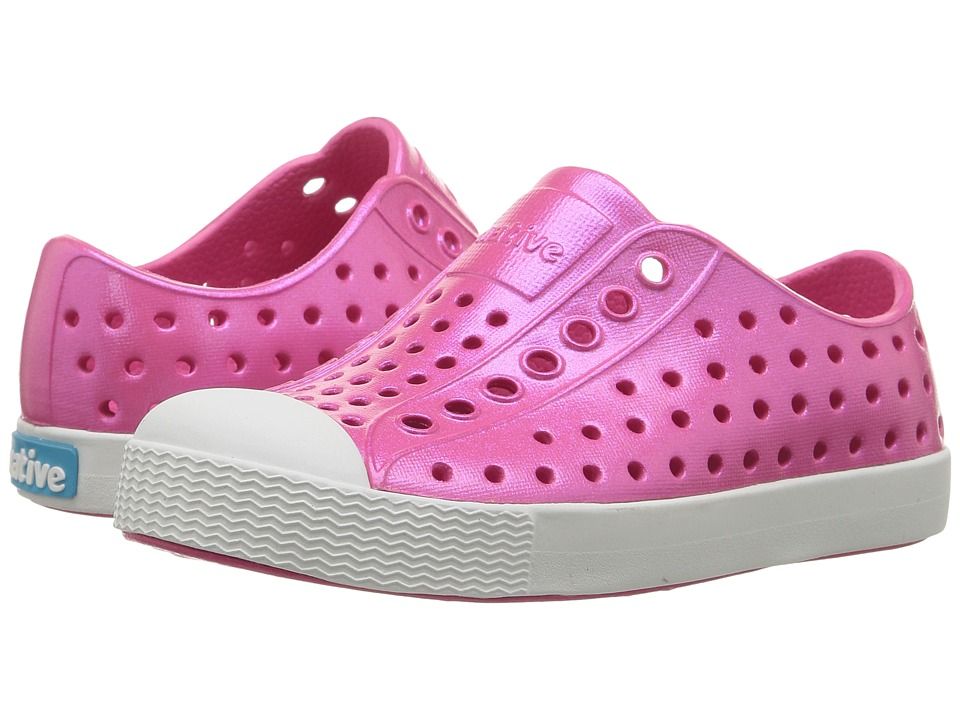 Native Kids Shoes - Jefferson Iridescent (Toddler/Little Kid) (Hollywood Pink/Shell White/Galaxy Iridescent) Girls Shoes
