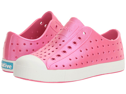 Native Kids Shoes Jefferson Iridescent (Little Kid) - Hollywood Pink/Shell White/Galaxy Iridescent