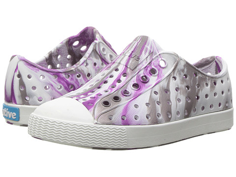 Native Kids Shoes Jefferson Marbled (Toddler/Little Kid) - Quail Purple/Shell White/ Marbled