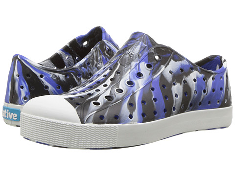 Native Kids Shoes Jefferson Marbled (Little Kid) - UV Jiffy/Shell White/Marbled