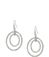 GUESS - Double Pave Ring Drop Earrings