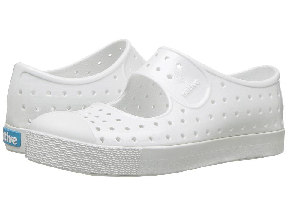 Native Kids Shoes - Juniper Mary Jane Gloss (Little Kid) (Shell White/Shell White/Gloss) Girls Shoes