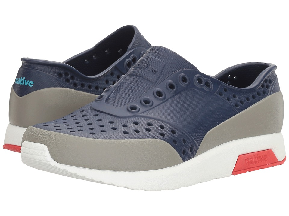 Native Kids Shoes Lennox Color Block (Little Kid) (Regatta Blue/Shell White/Torch Red/Pigeon Block) Kids Shoes