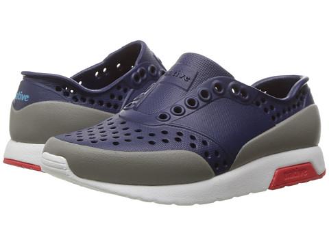 Native Kids Shoes Lennox Color Block (Toddler/Little Kid) - Regatta Blue/Shell White/Torch Red/Pigeon Block