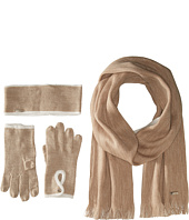 Calvin Klein - Three-Piece Two-Tone Scarf/Headband/Gloves Set