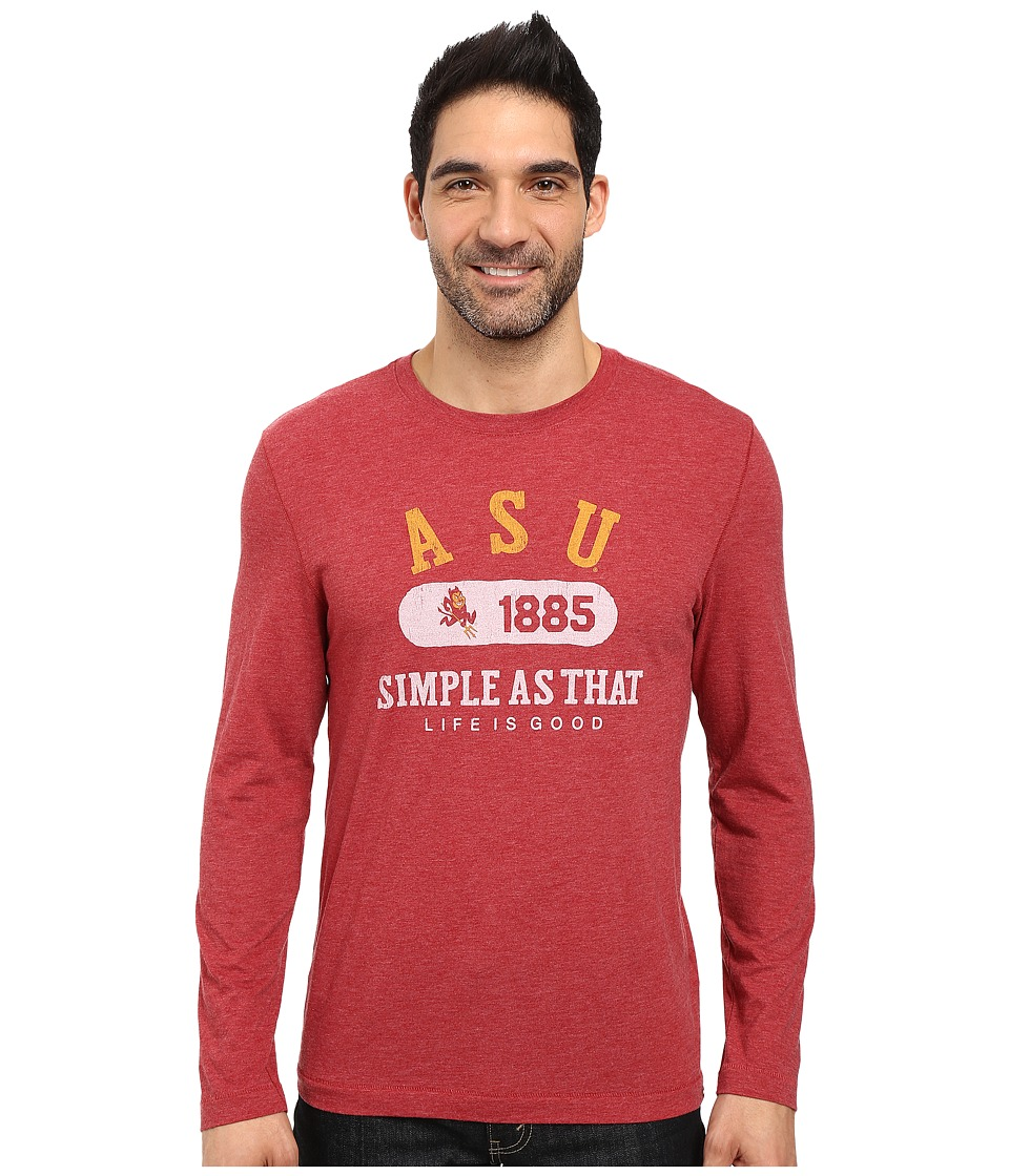 Life is good - Dawgs Long Sleeve Tee (Red) Men