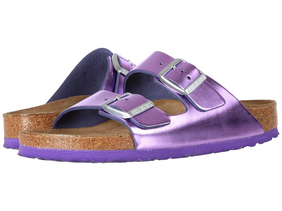 Birkenstock Arizona Soft Footbed (Metallic Violet Leather) Women
