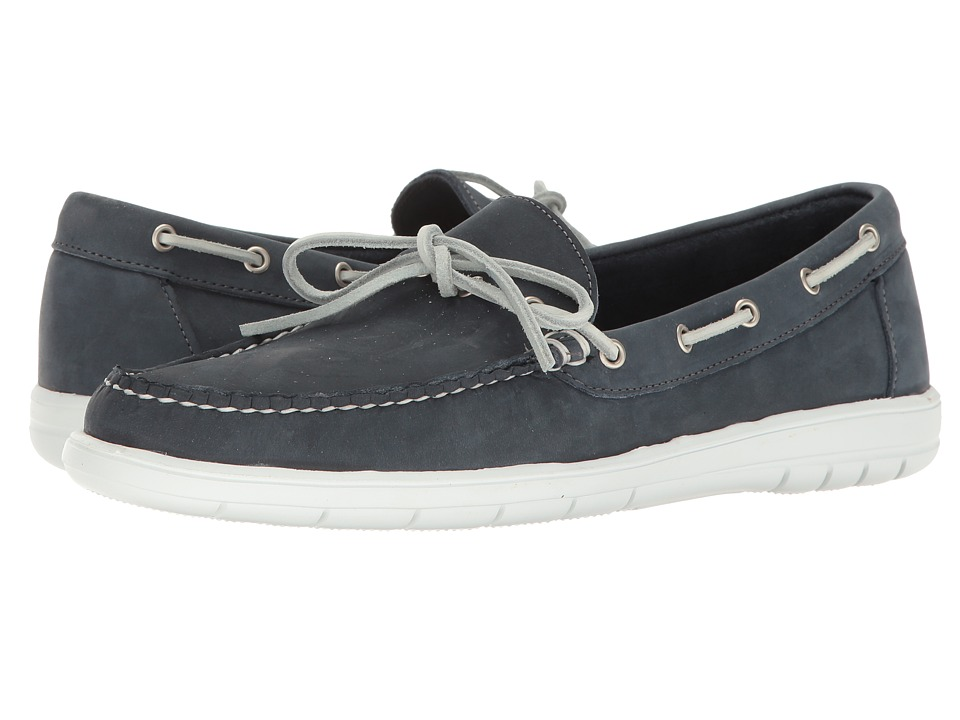 Rockabilly Men's Clothing Allen-Edmonds - Ely Navy Suede Mens Moccasin Shoes $175.00 AT vintagedancer.com
