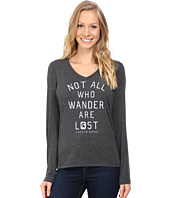 Life is good - Not All Who Wander Long Sleeve Vee