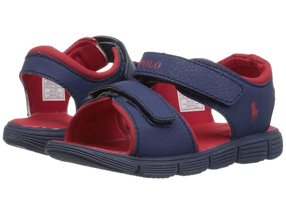 Polo Ralph Lauren Kids Bluff (Toddler) (Navy Sportbuck/Red) Boy's Shoes