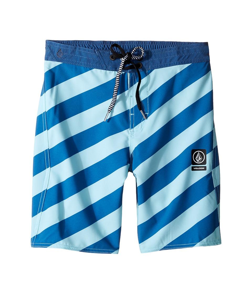 Volcom Kids Stripey Jammer Boardshorts (Little Kids) (Deep Water) Boy
