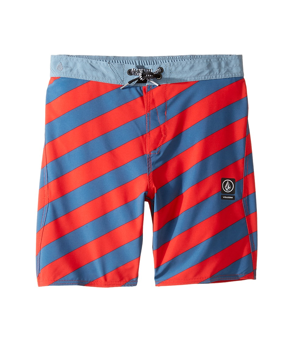 Volcom Kids Stripey Jammer Boardshorts (Little Kids) (Toffee) Boy