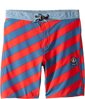 Volcom Kids - Stripey Jammer Boardshorts (Little Kids)