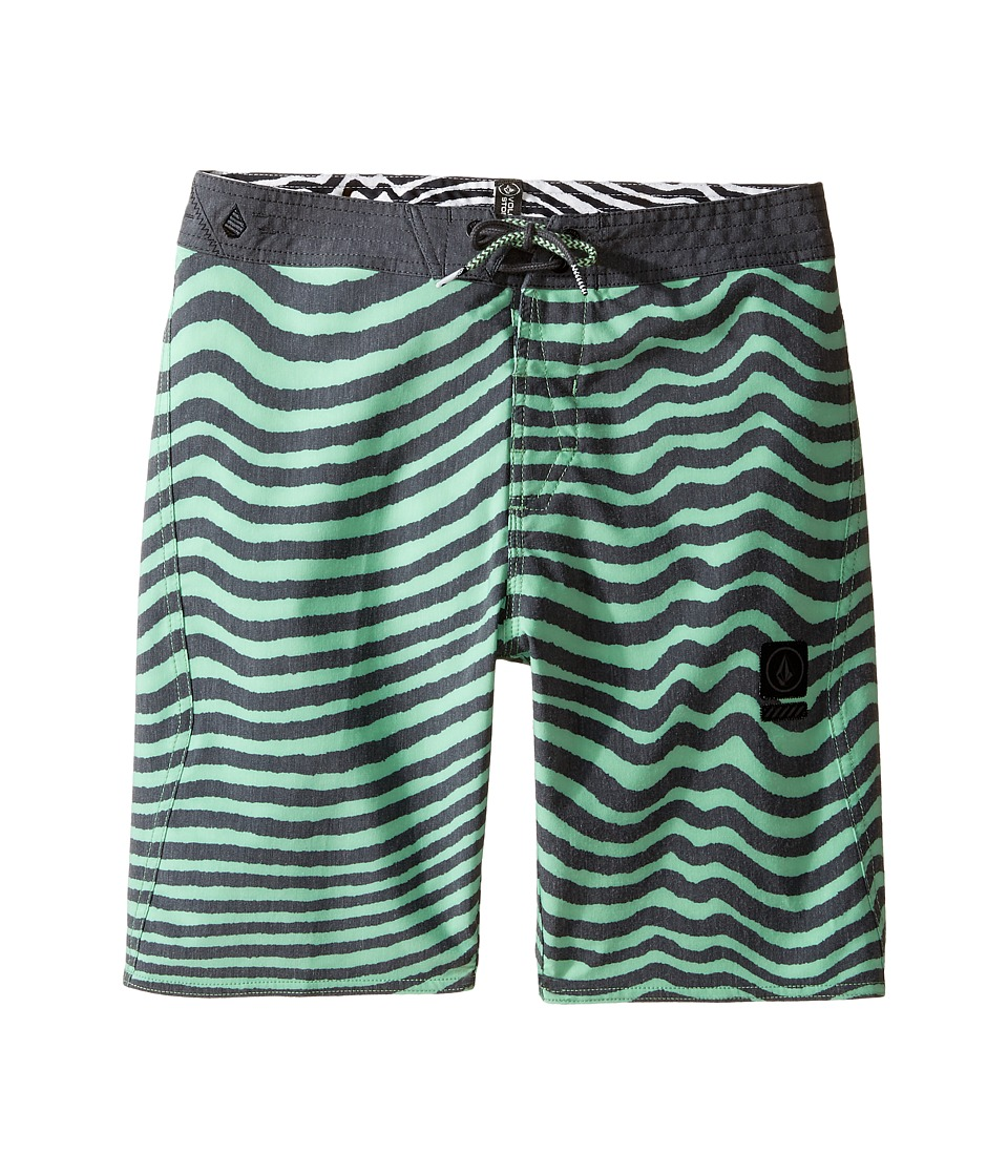Volcom Kids Mag Vibes Slinger Boardshorts (Big Kids) (Poison Green) Boy