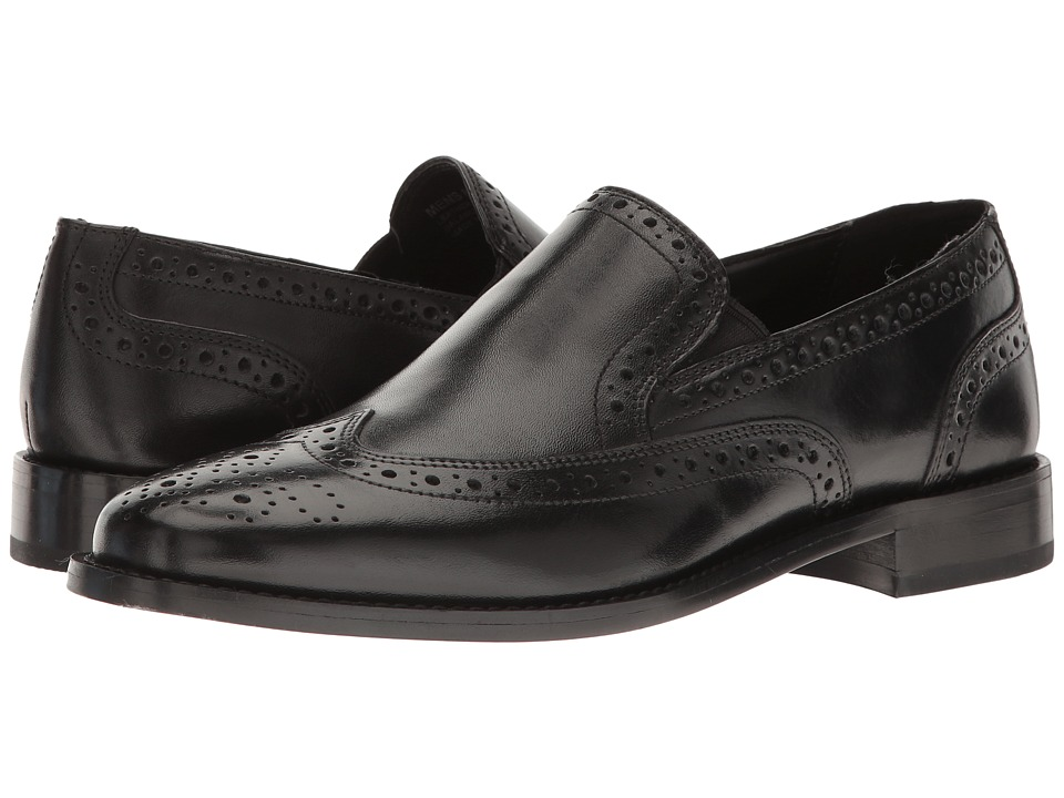 Nunn Bush Norris Wing Tip Double Gore Slip-On (Black) Men