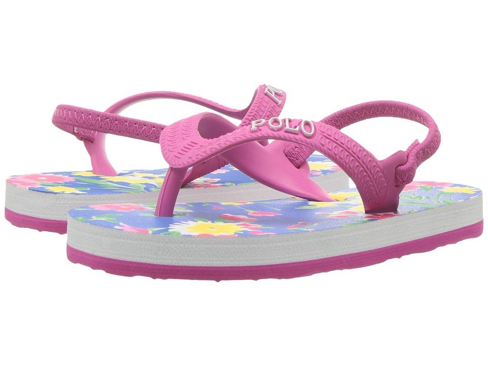 Polo Ralph Lauren Kids - Hailey (Toddler) (Blush Pink/Blue Multi Floral) Girls Shoes
