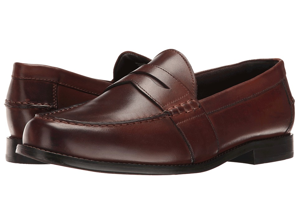 Nunn Bush - Noah Beef Roll Penny Loafer (Brown) Mens Slip-on Dress Shoes
