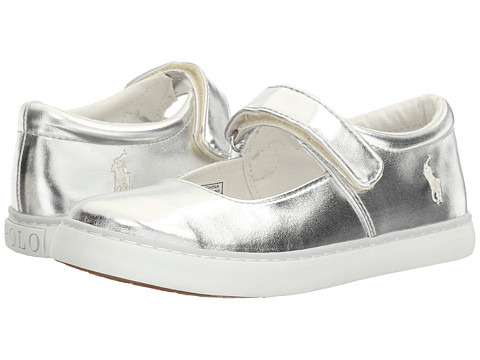 Polo Ralph Lauren Kids Pippa (Little Kid) - Silver Metallic/White PP
