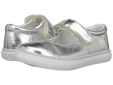 Polo Ralph Lauren Kids Pippa (Toddler) - Silver Metallic/White PP