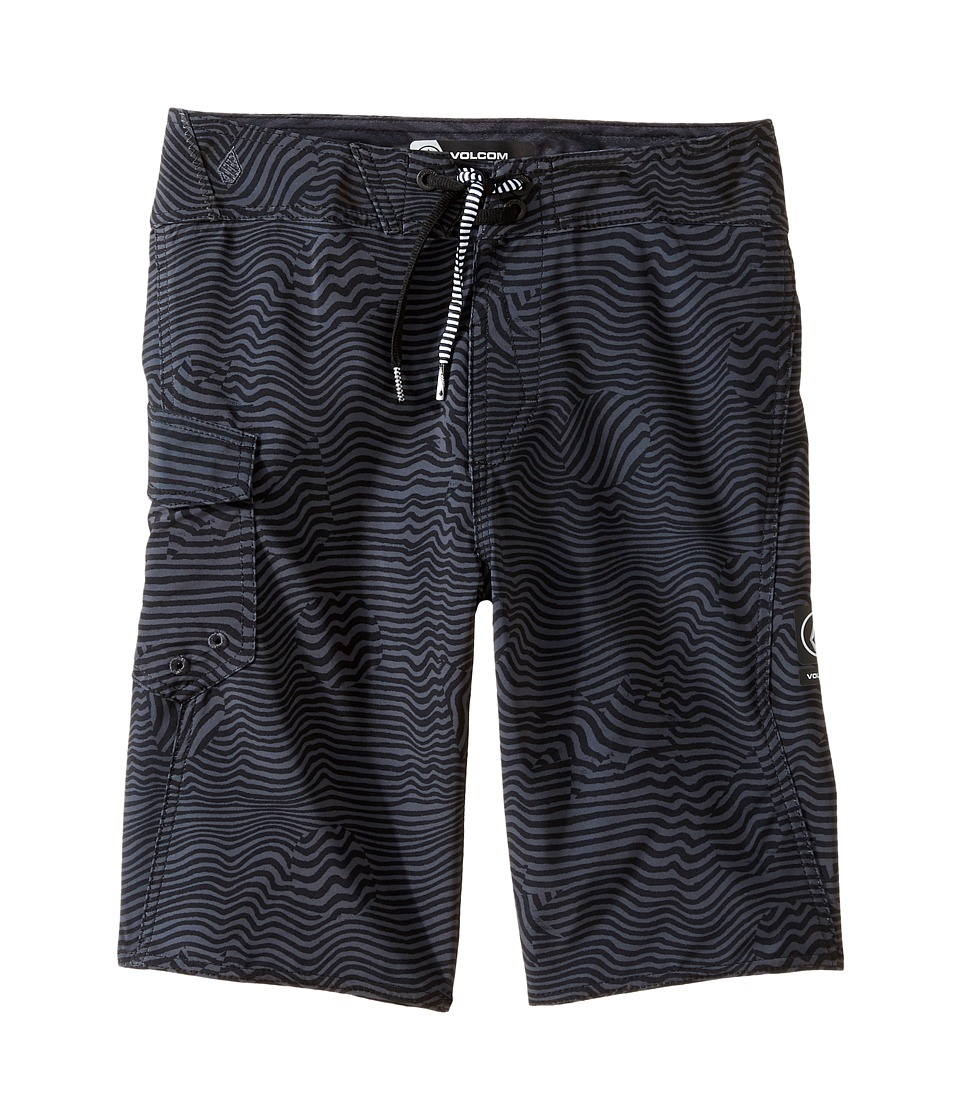 Volcom Kids Magnetic Stone Mod Boardshorts (Big Kids) (Black) Boy