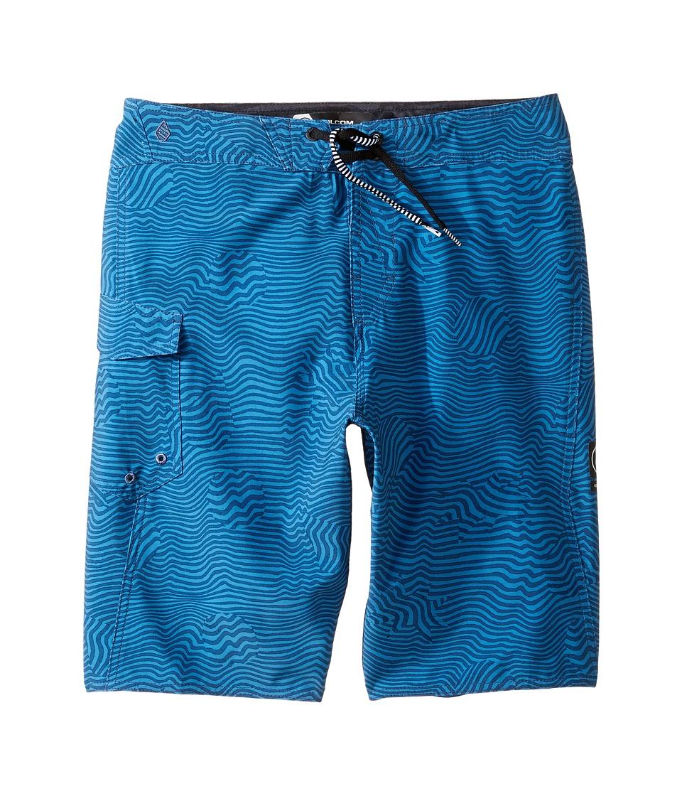 Volcom Kids Magnetic Stone Mod Boardshorts (Big Kids) (Deep Water) Boy