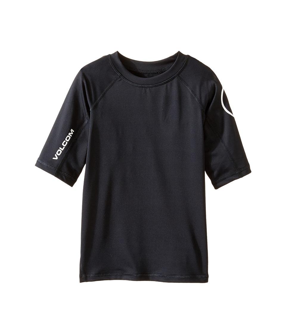Volcom Kids Lido Short Sleeve Thrashguard (Toddler/Little Kids) (Black) Boy