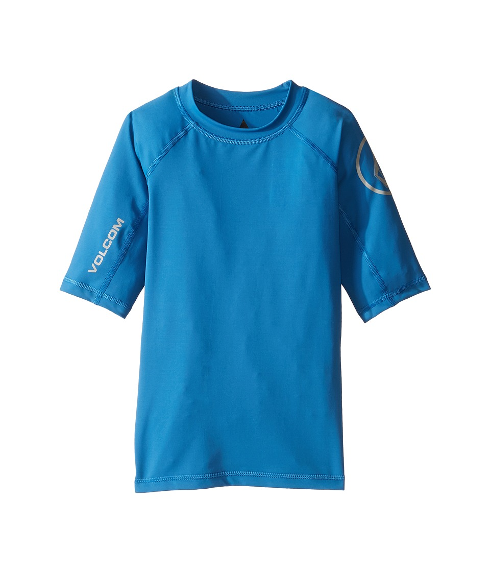 Volcom Kids Lido Short Sleeve Thrashguard (Toddler/Little Kids) (Deep Water) Boy