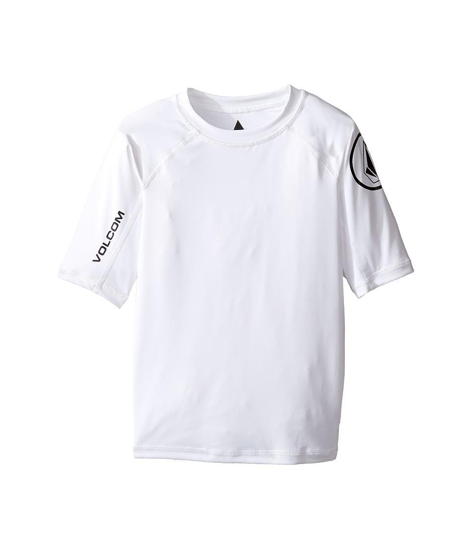 Volcom Kids Lido Short Sleeve Thrashguard (Toddler/Little Kids) (White) Boy