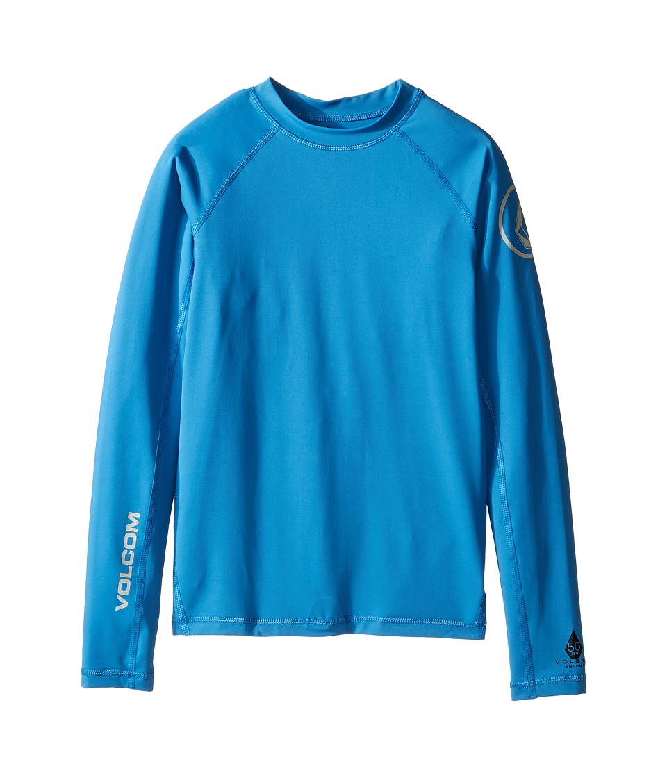 Volcom Kids Lido Long Sleeve Thrashguard (Big Kids) (Deep Water) Boy