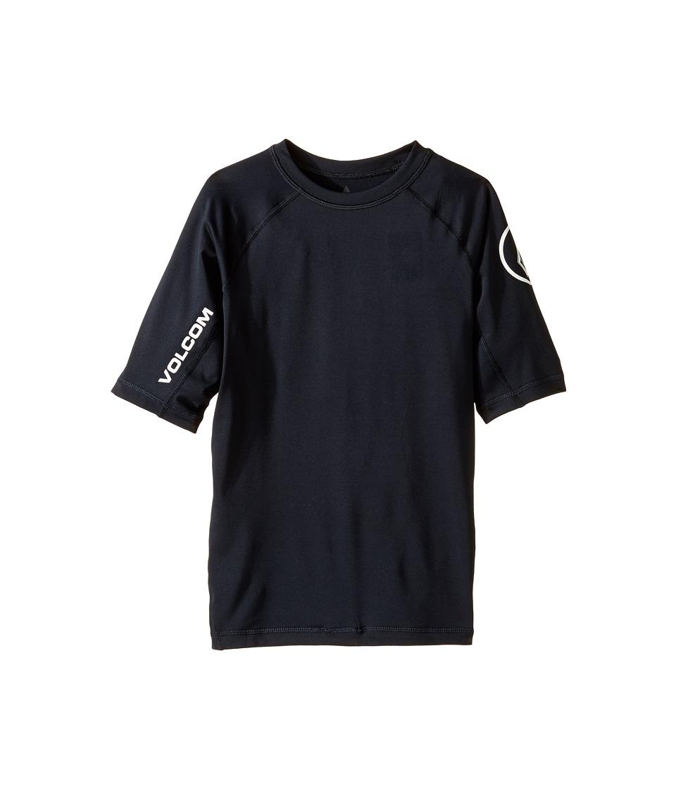 Volcom Kids Lido Short Sleeve Thrashguard (Big Kids) (Black) Boy