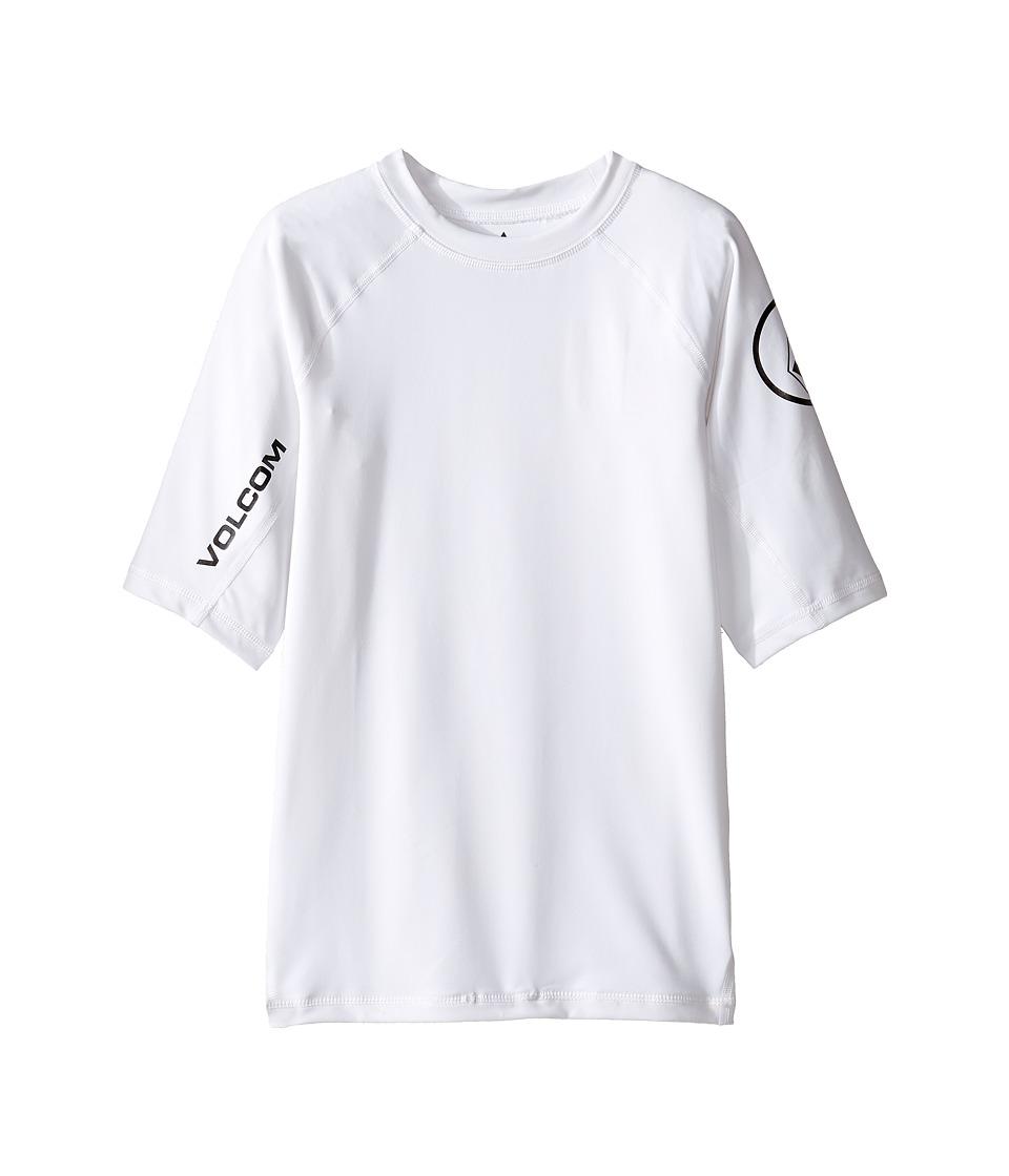 Volcom Kids Lido Short Sleeve Thrashguard (Big Kids) (White) Boy