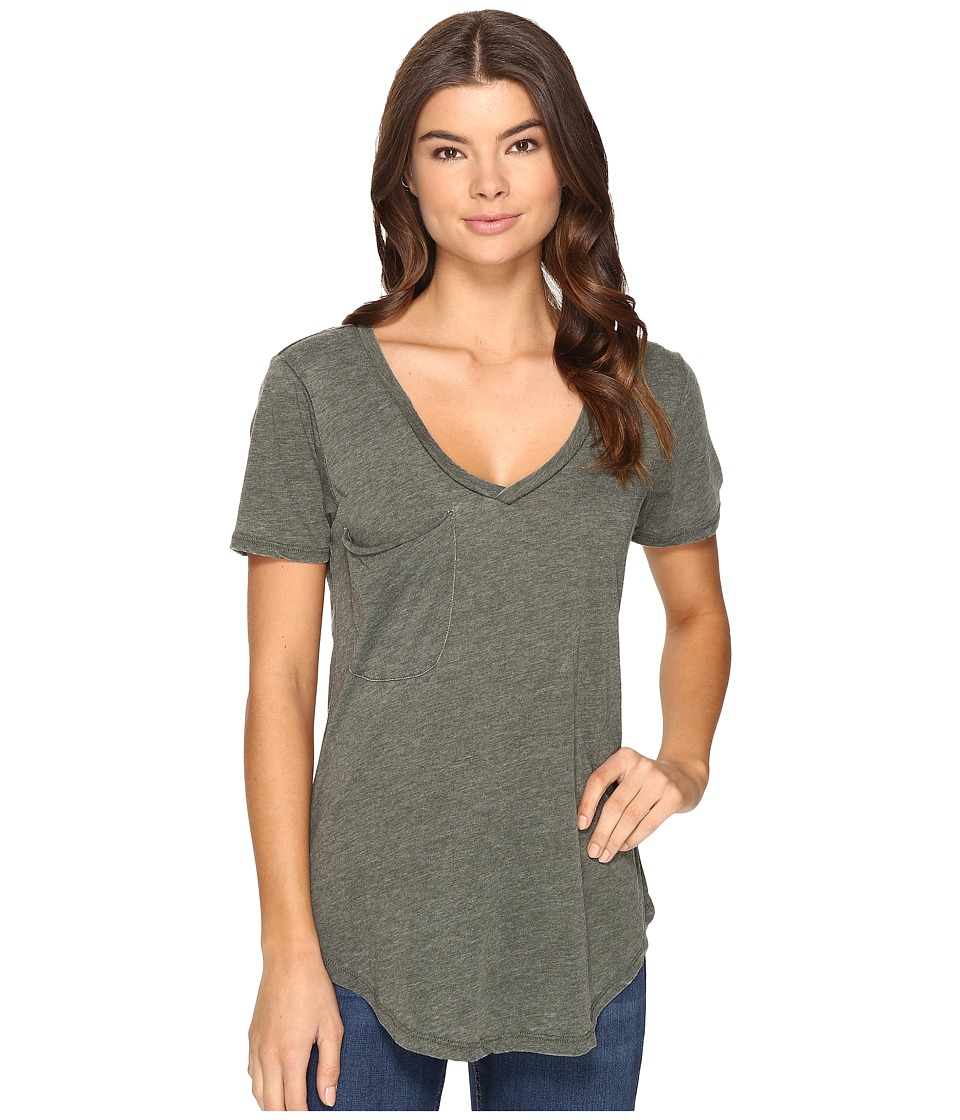 Culture Phit Adley Short Sleeve Tee with Pocket (Olive) Women