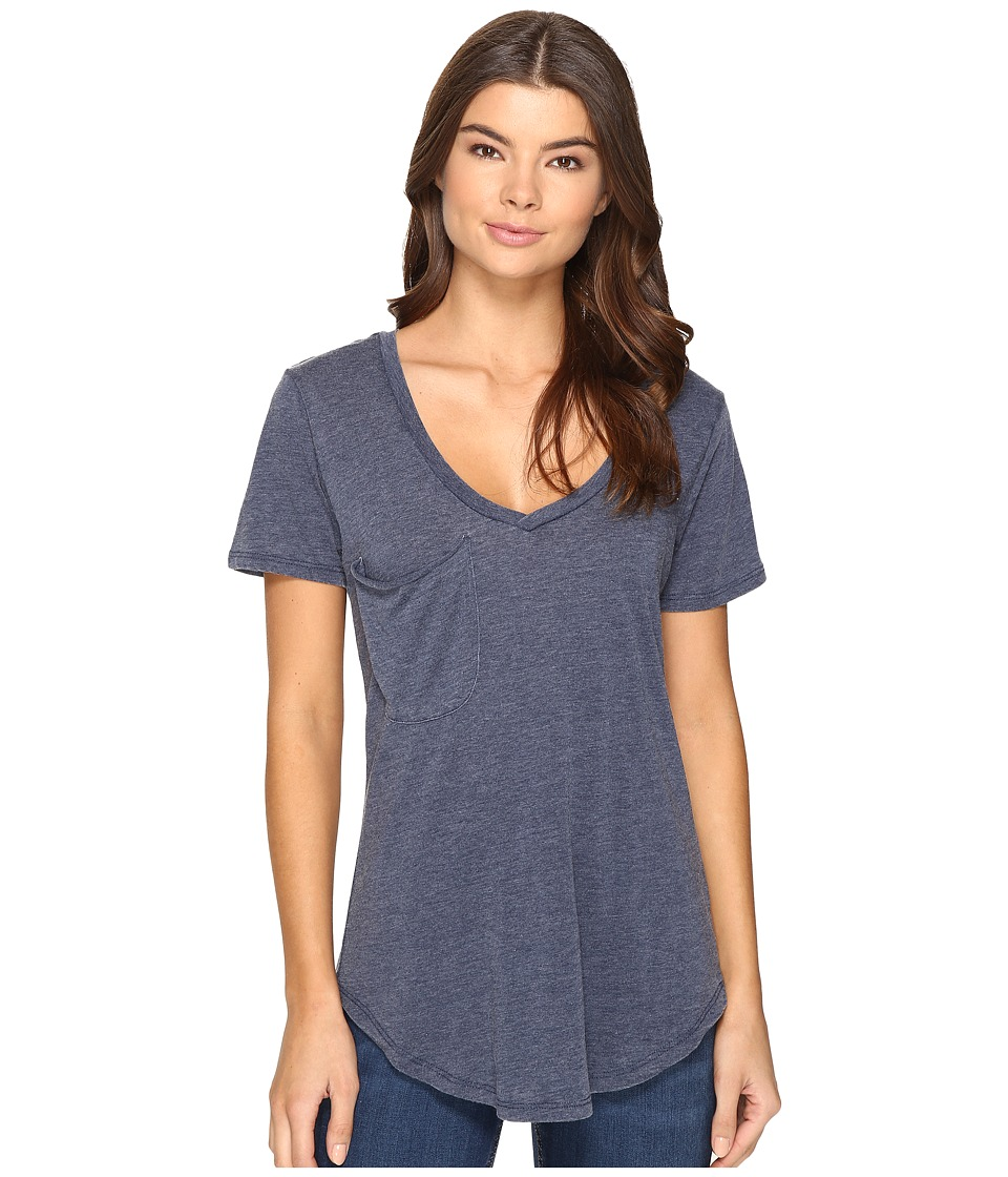 Culture Phit Adley Short Sleeve Tee with Pocket (Navy) Women