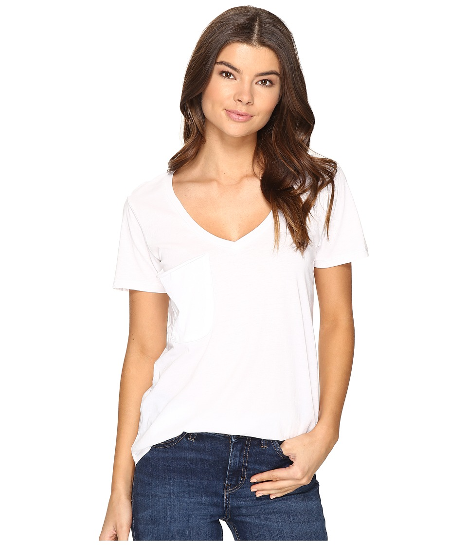 Culture Phit Adley Short Sleeve Tee with Pocket (White) Women