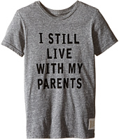 The Original Retro Brand Kids - I Still Live with My Parents Short Sleeve Tri-Blend Tee (Little Kids/Big Kids)