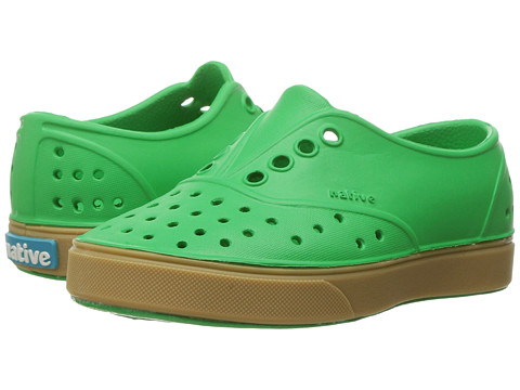 Native Kids Shoes Miller with Gum Rubber (Toddler/Little Kid) - Giant Green/Gum Rubber