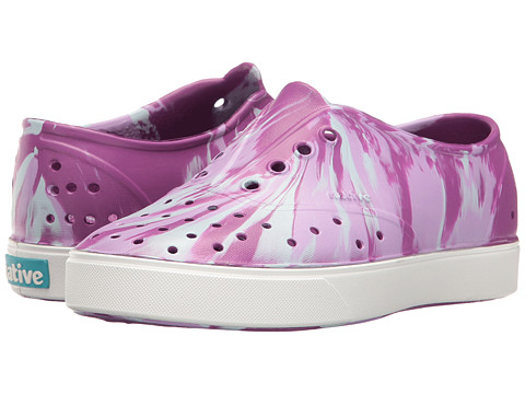 Native Kids Shoes Miller Marbled (Little Kid) - Baker Purple/Shell/Marbled