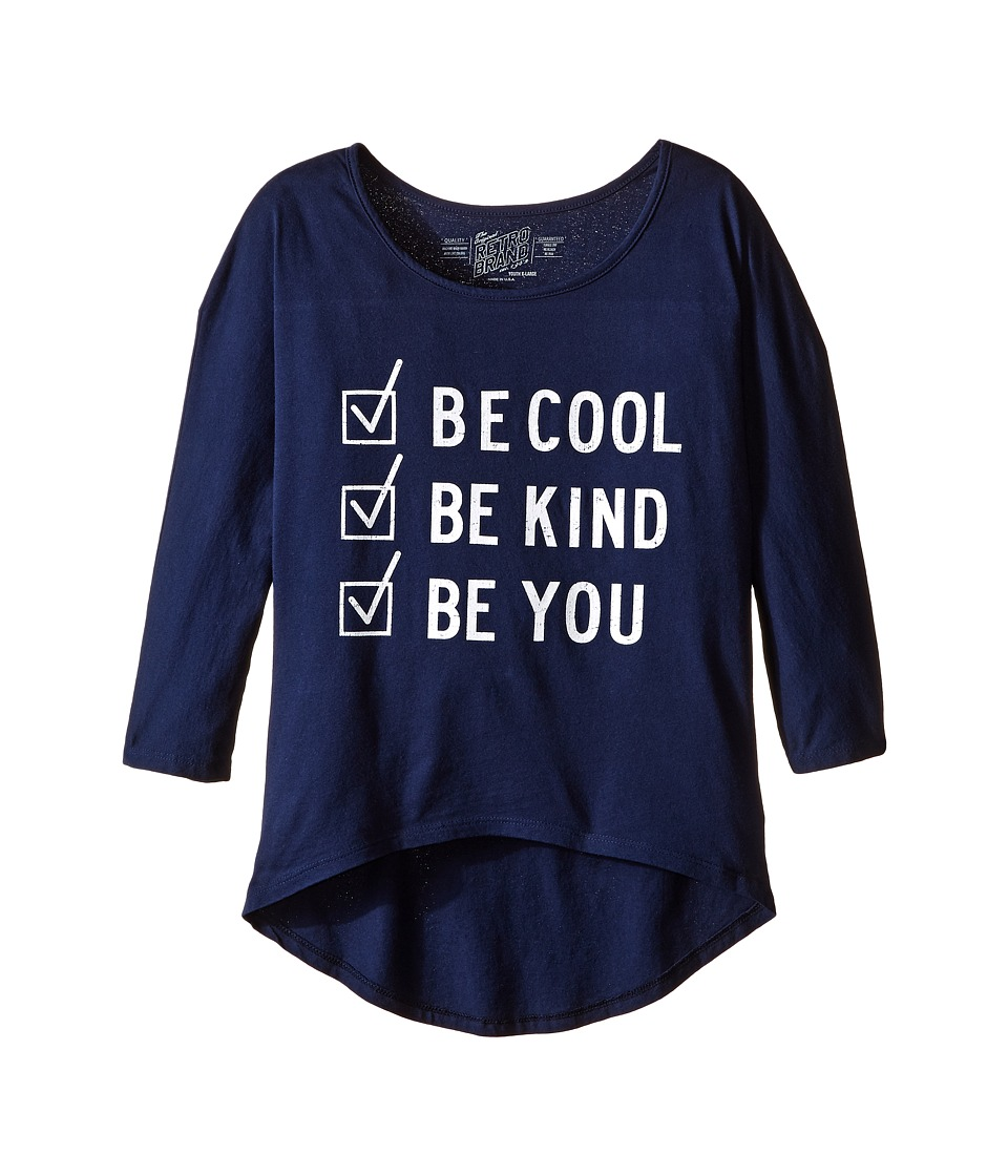 The Original Retro Brand Kids - Be Cool Be Kind Be You Dolman 3/4 Tee
