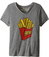 The Original Retro Brand Kids - Friday Short Sleeve V-Neck Tee (Big Kids)