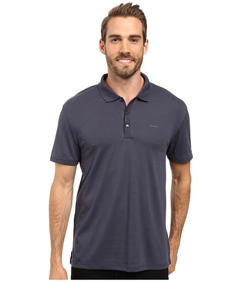 Calvin Klein Liquid Cotton Solid Short Sleeve Polo