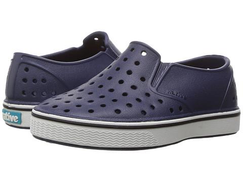 Native Kids Shoes Miles Slip-On (Toddler/Little Kid) - Regatta Blue/Shell White