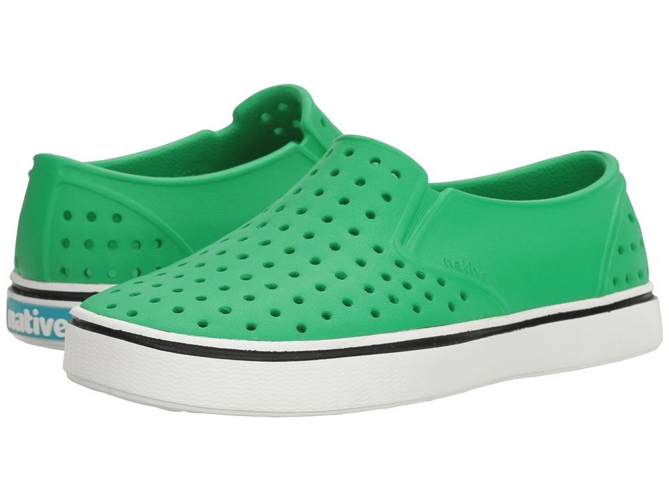 Native Kids Shoes - Miles Slip-On (Little Kid) (Giant Green/Shell White) Kids Shoes