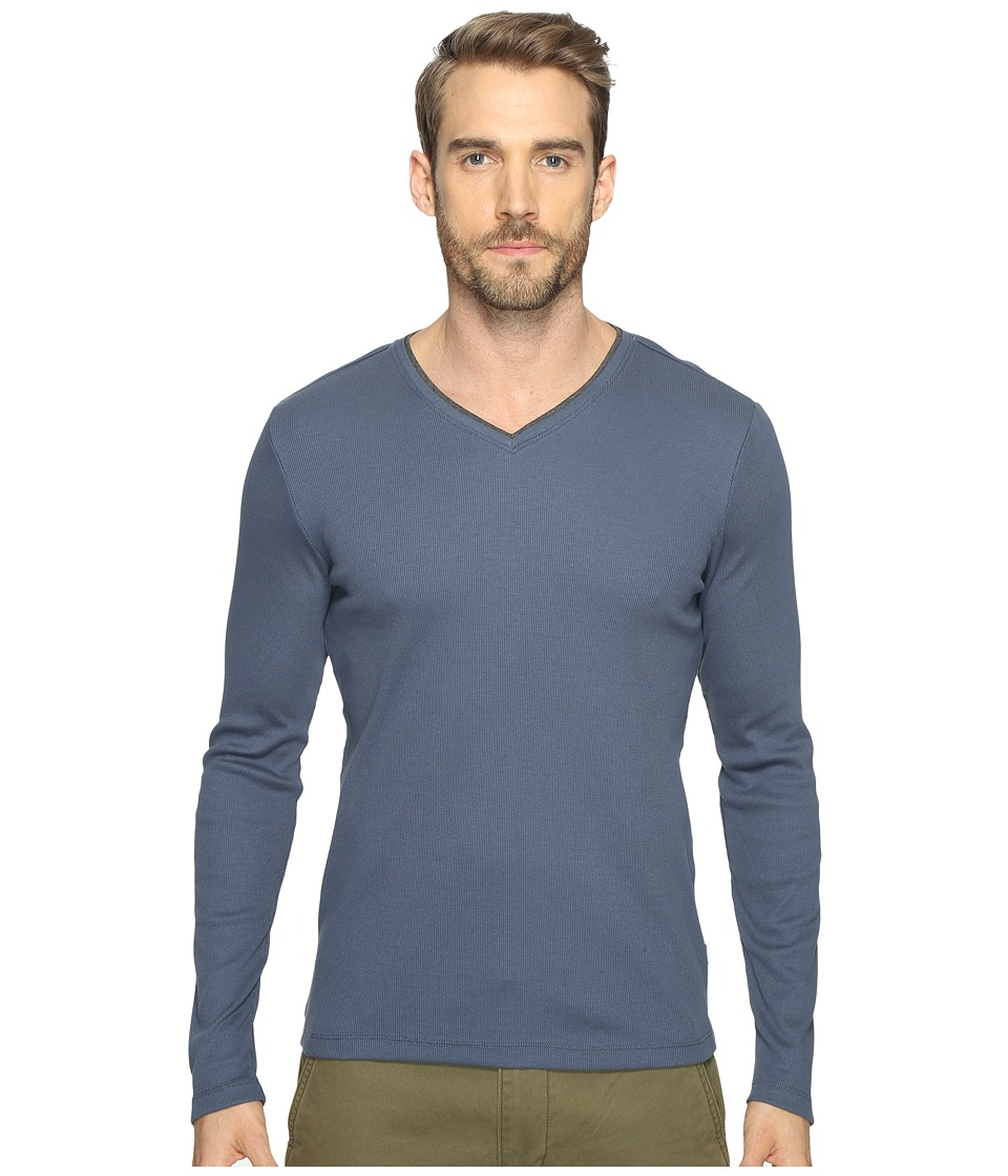 Calvin Klein Long Sleeve Rib V-Neck T-Shirt (Nook) Men