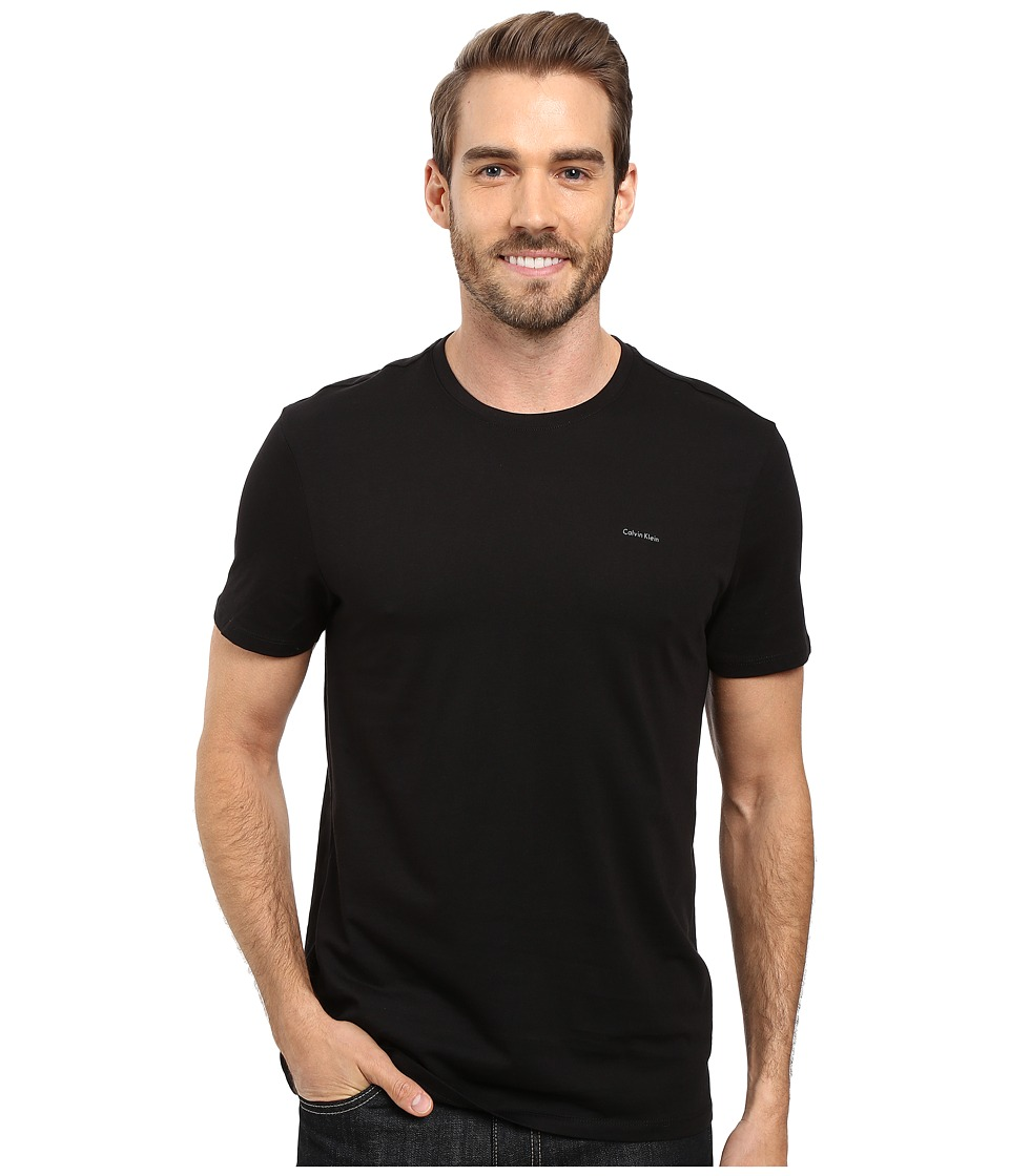 Calvin Klein Short Sleeve Pima Cotton Crew T-Shirt (Black) Men