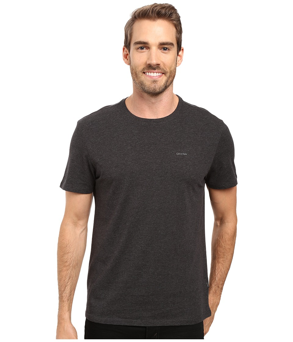 Calvin Klein Short Sleeve Pima Cotton Crew T-Shirt (Gunmetal Heather) Men